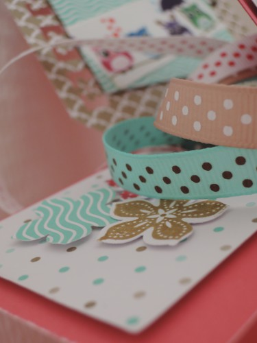 anniblog,crafty ribbons,carte,3d,chouette,ruban,pois
